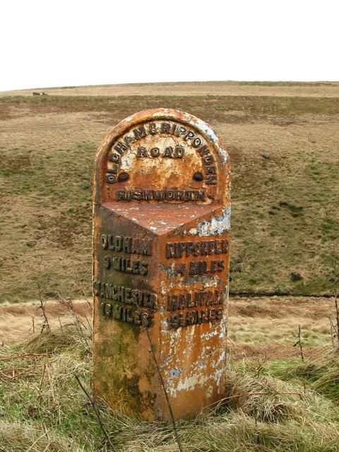 Rishworth Milepost