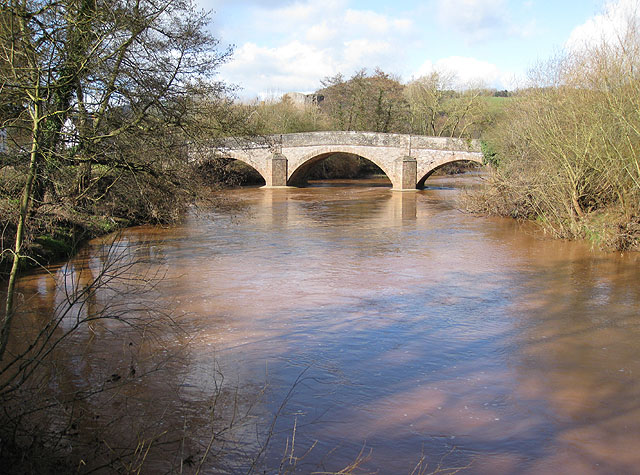 Raised water level on the River Monnow