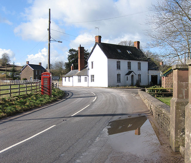 Road junction, Skenfrith