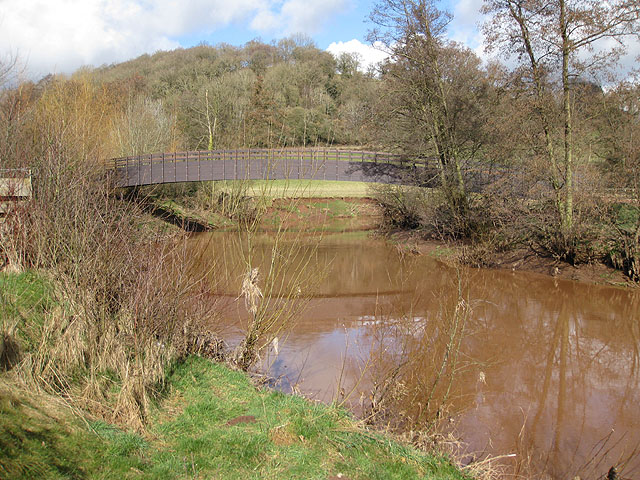 New footbridge across the River Monnow