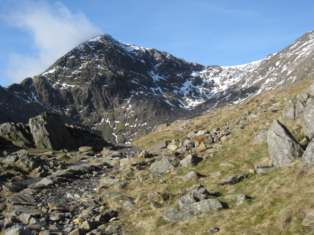 The Pyg Track with a view to Snowdon/Yr Wyddfa