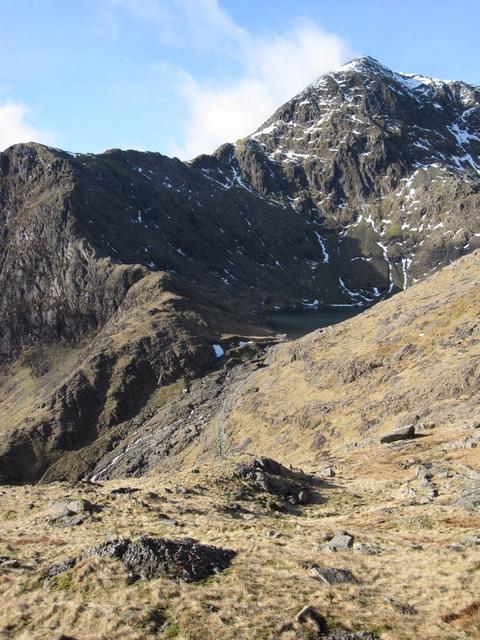 View of Y Gribyn and Snowdon/Yr Wyddfa from the Pyg Track.