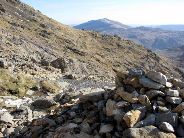 Two cairns on the Pyg Track