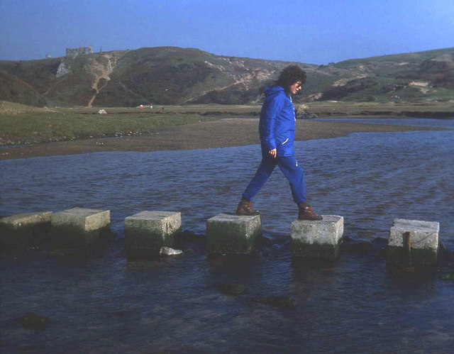 Stepping stones at Pennard Pill