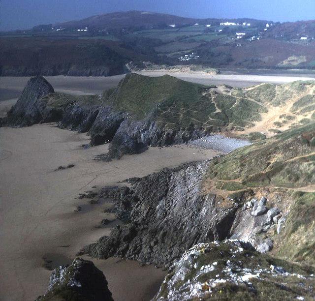 Pobbles Beach and Pennard Burrows