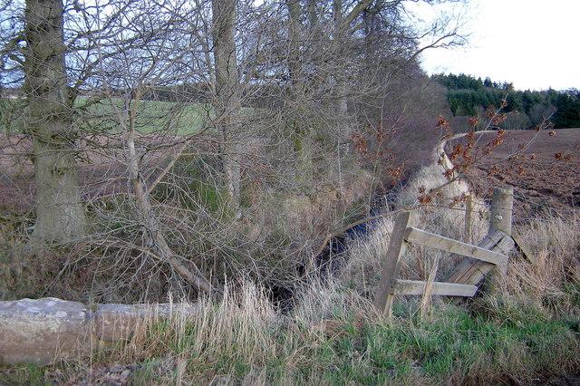 Lochton Burn looking downstream