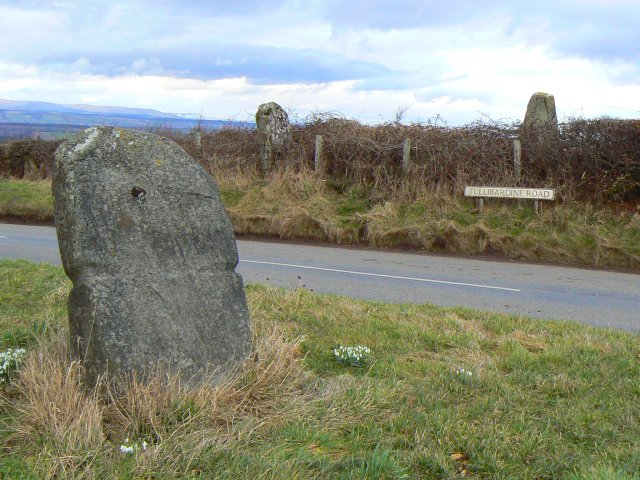 Megalithic monument and modern road