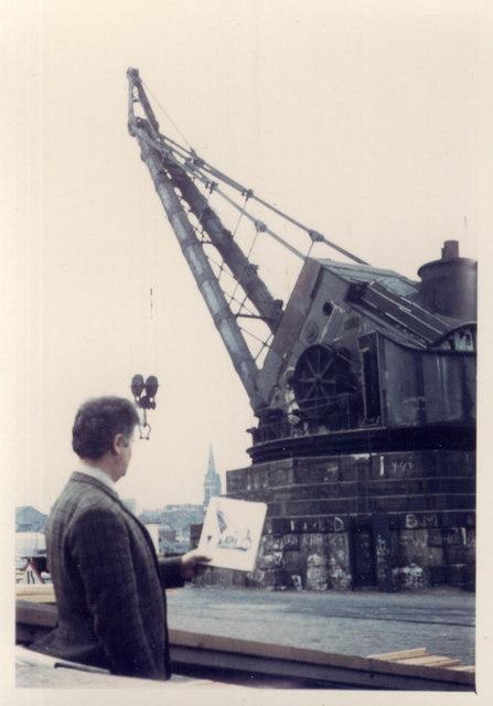 "The ""90 ton crane"", Victoria Docks, Dundee"
