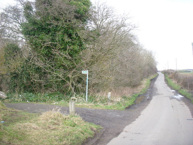 footpath and woods near High Sharpley
