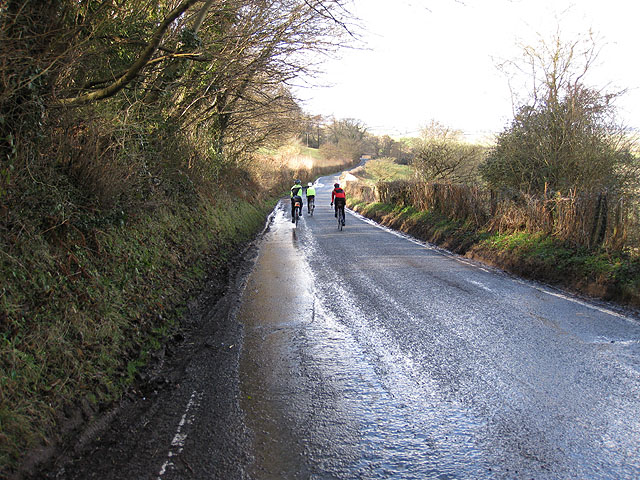 Cyclists descending