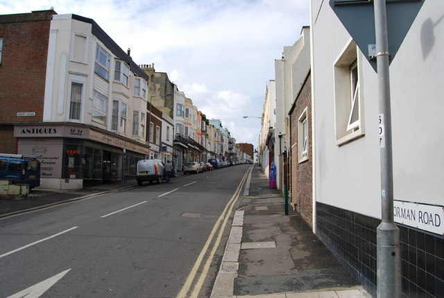 Norman Rd, St Leonards, looking West