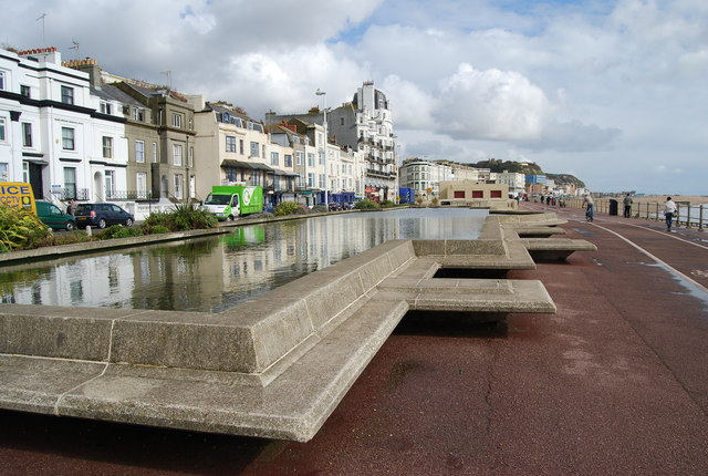 Former Boating Lake, seafront, Hastings