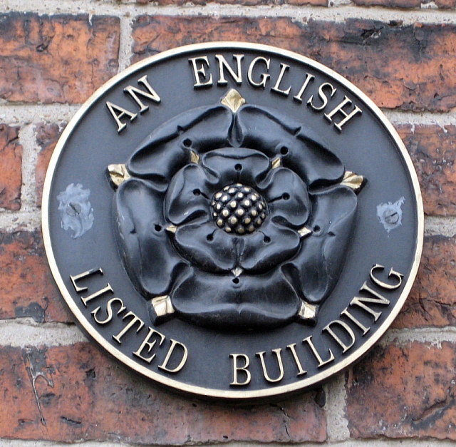 An English Listed Building Plaque