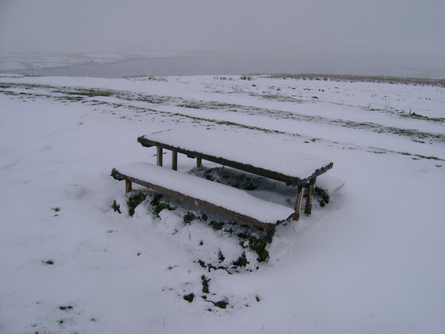 Lochend Hill picnic table