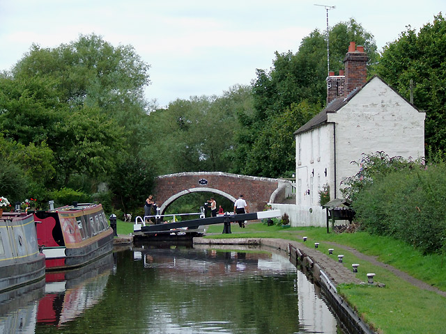 Tixall Lock near Milford, Staffordshire