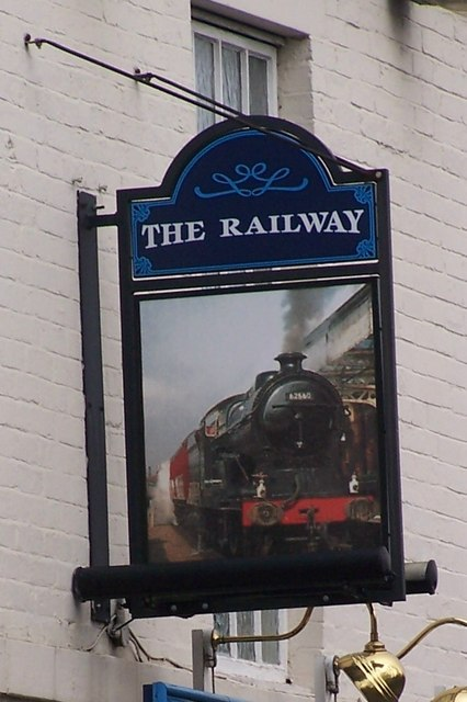 The Railway Pub Sign, Blackburn Road, Low Wincobank