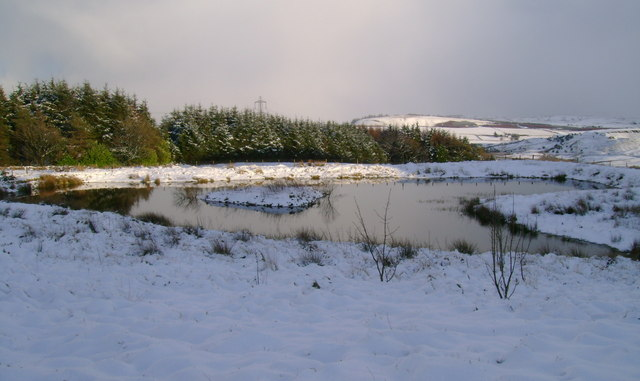 Small lochan on eastern side of Corkindale Law