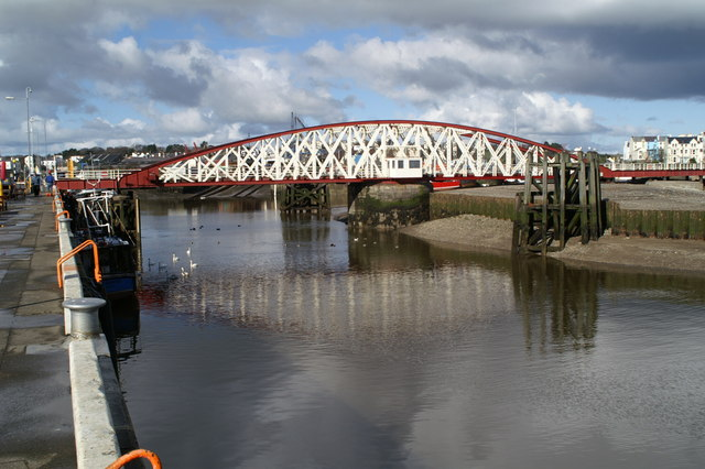 Swing bridge, Ramsey Harbour, from the East