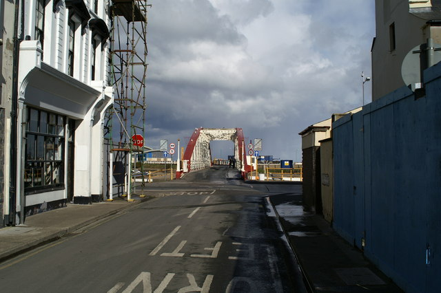 Swing bridge, Ramsey Harbour, from the South