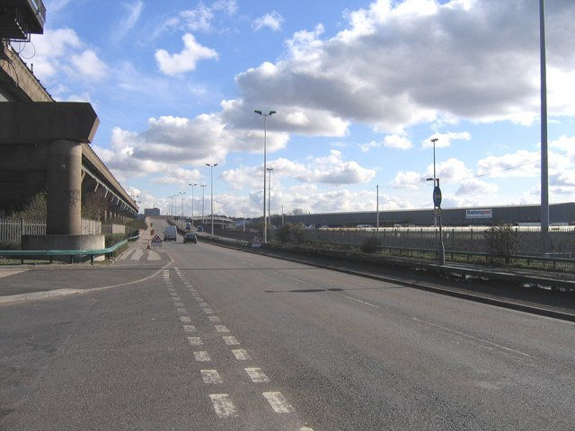 A47 Running Alongside the M6 Motorway