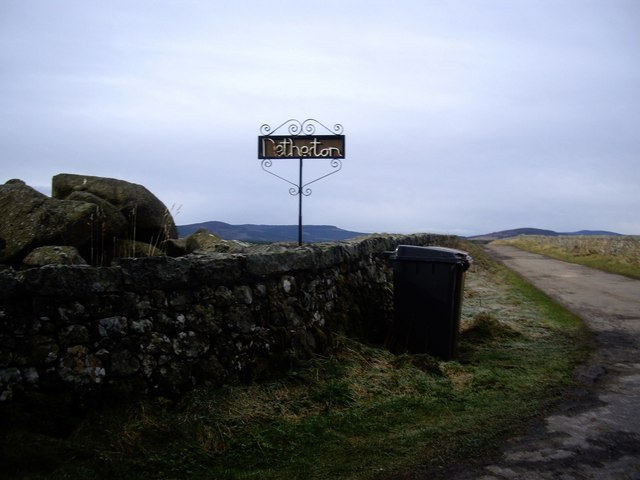 Access road to Netherton of Garlogie