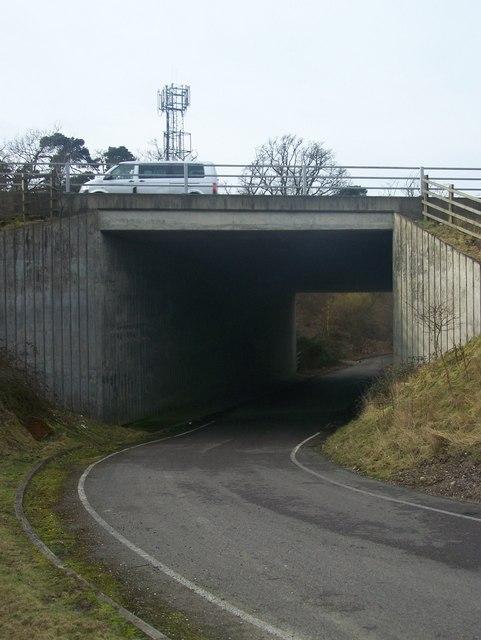 Hospital Road goes under M20 Motorway