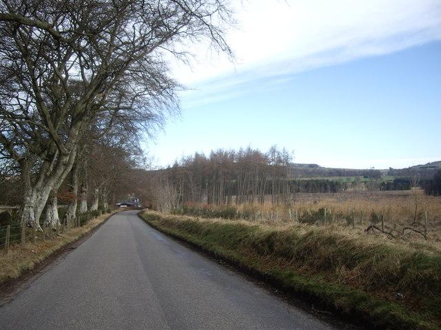 Road from Garlogie to Kirkton of Skene