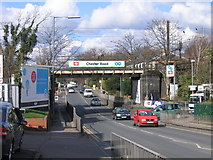 SP1193 : Railway Bridge over Chester Road, Erdington. by Roy Hughes