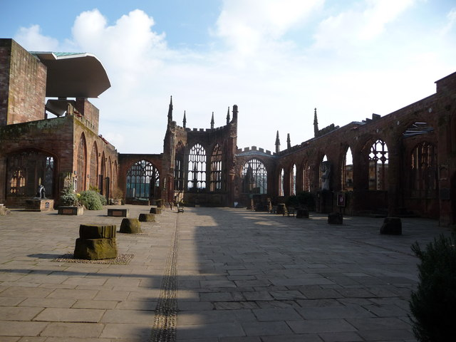 Blitz ravaged Coventry Cathedral