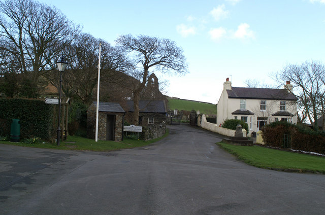 Maughold village green