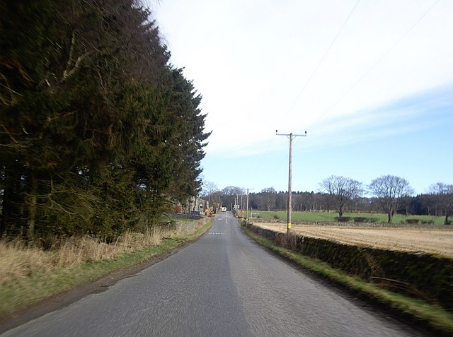 Approach to Gairloch crossroads