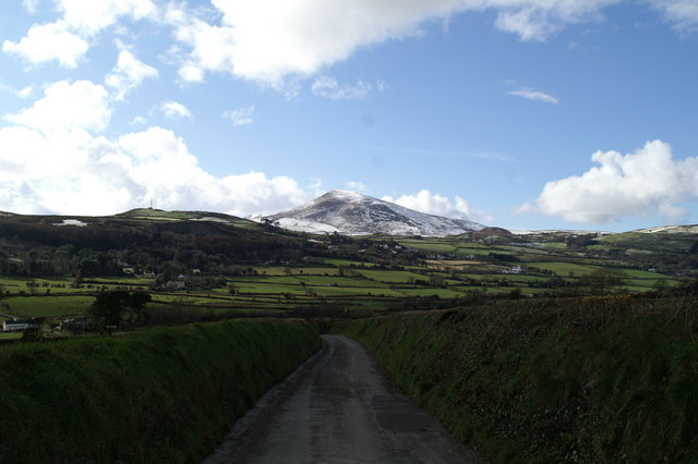 View west from Ballakilley, towards Snaefell