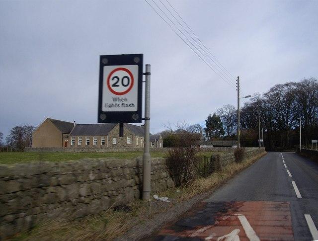 Approach to Kirkton of Skene School