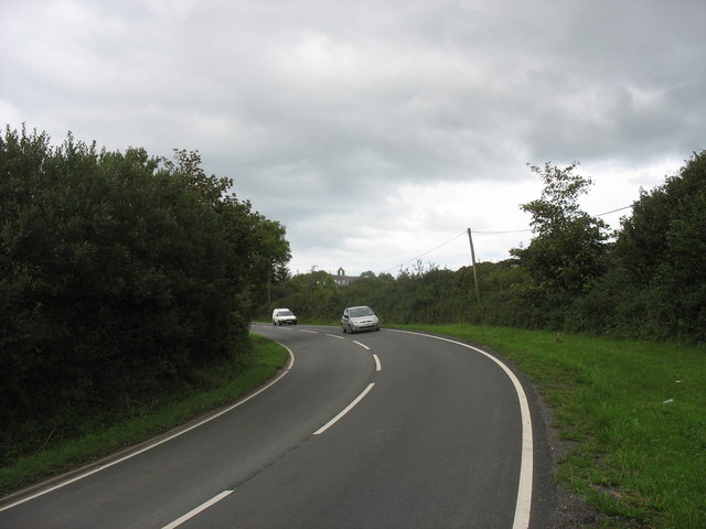 Sharp bend in the B5110 south-west of the former St Andrew Missionary Church