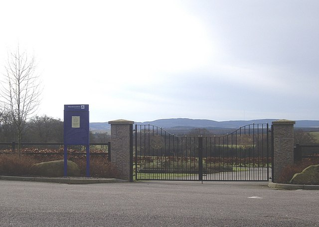 Gated entrance to new cemetery