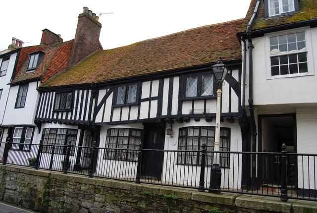 Black & White Half Timbered House, High St, Old Town, Hastings