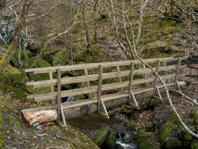 Footbridge Over Nant Bwa-drain Cwm Rheidol