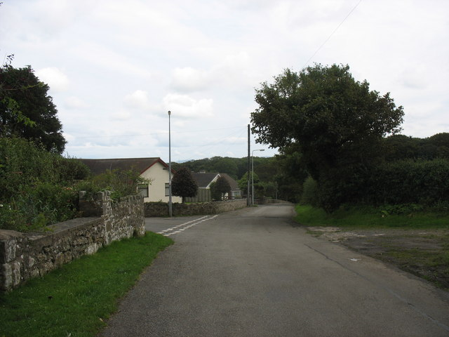 The entrance to the Maes Llydan estate