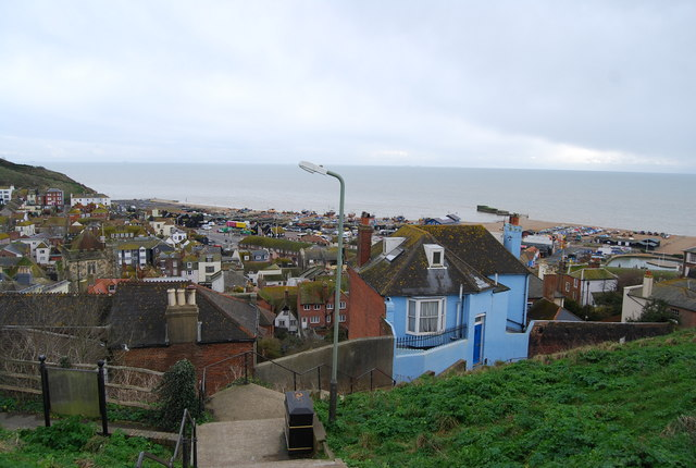 Looking over the Old Town towards the Sea from West Hill