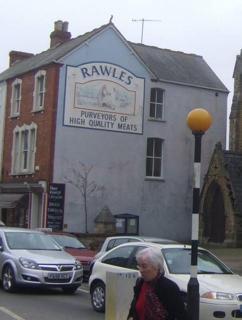 Rawles, the butchers, advertise their wares