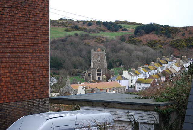 All Saints Church, Old Town from below East Hill