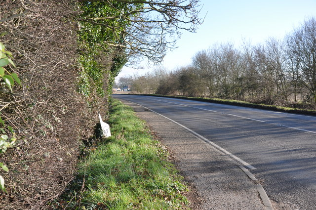 Milepost by the A137, Colchester Road, Ardleigh
