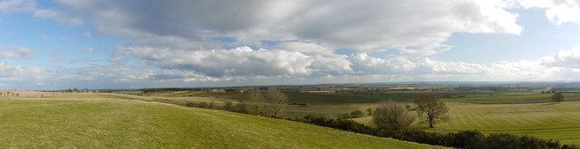 View from Brackness Hill (panorama)