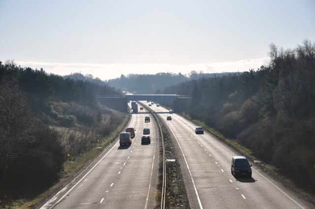 A120 looking east towards the coast
