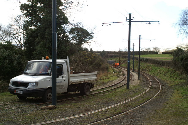 Track works on the Electric Tramway at Ballasloe
