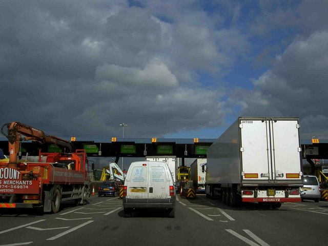 Dartford crossing tollbooths (North through the tunnels)