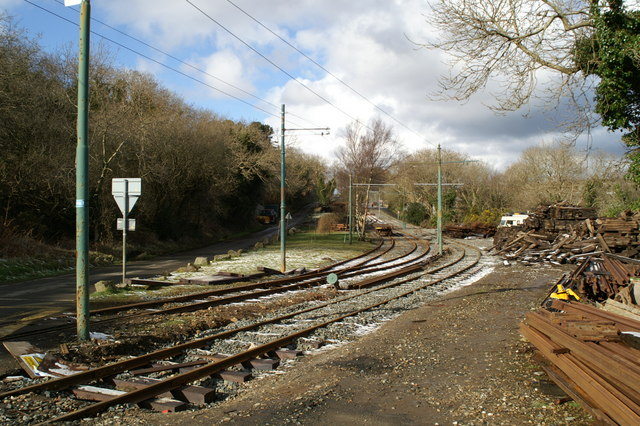 Track works depot on the Electric Tramway near Dhoon