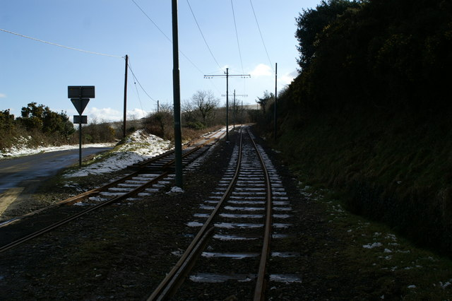 Track works on the Electric Tramway near Dhoon