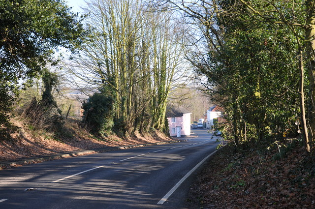 B1029, Colchester Road towards the village, Dedham