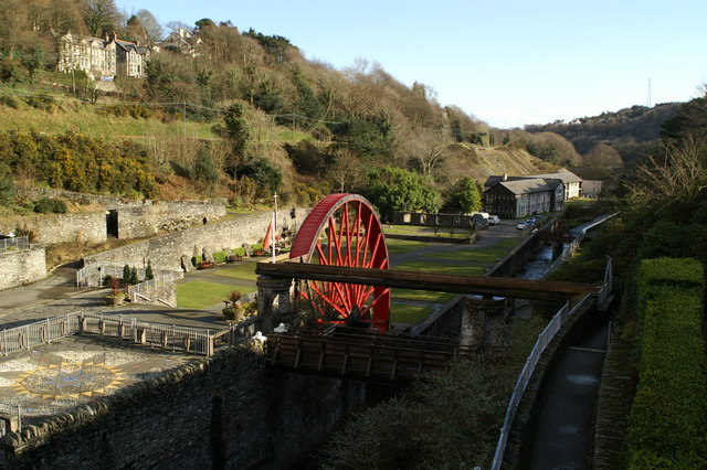 The Lady Evelyn waterwheel at Laxey